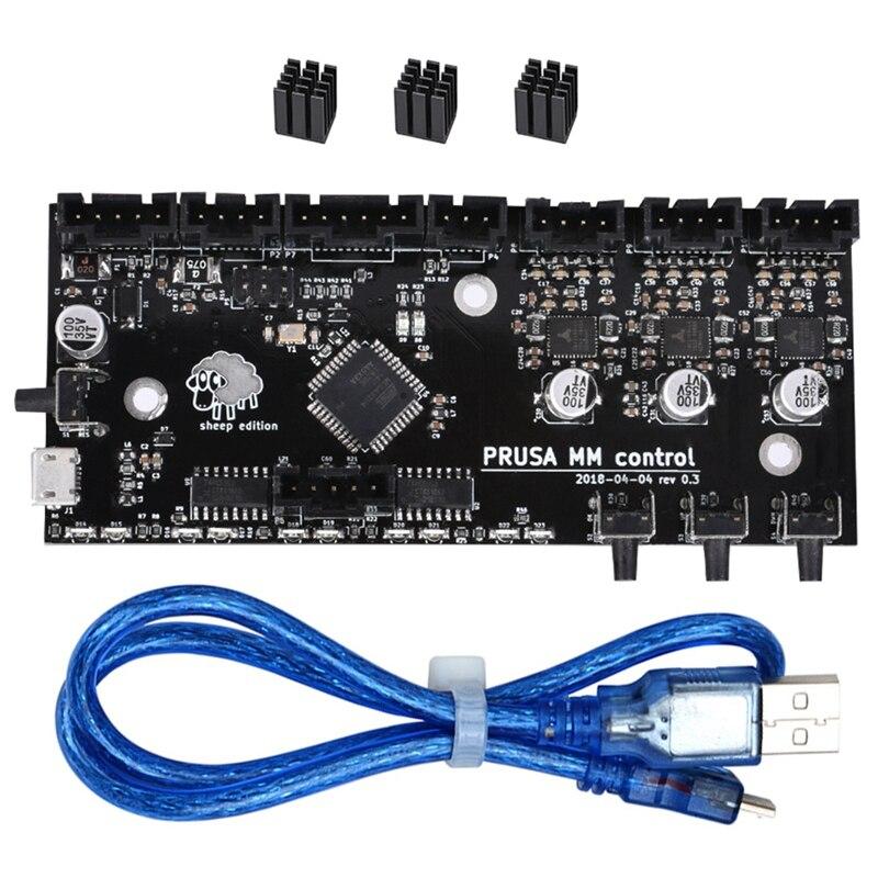 Bigtreetech 3D imprimante pièces clonées I3 Mk3 Mmu2 conseil Multi matériel 2.0 mise à niveau Mm carte de contrôle avec contrôleur de puce Tmc2130