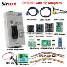 Frete grátis rt809f serial isp programador com 11 adaptadores + 1.8v adaptador clipe de teste sop8 edid cabo melhor qualidade