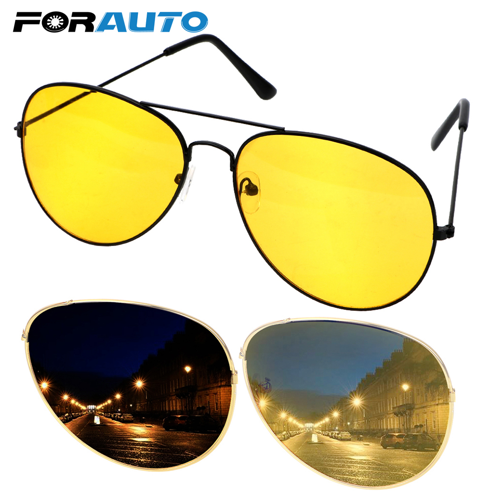 FORAUTO Car Night Vision Driver Goggles Polarized Driving Glasses Anti-glare Polarizer Sunglasses Copper Alloy Eyewear