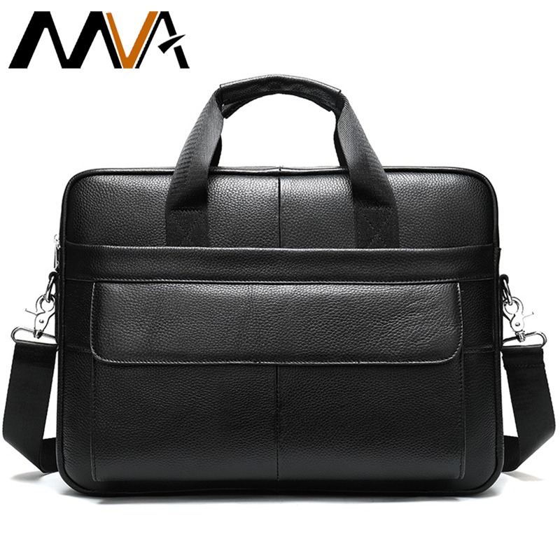 Men Briefcase Genuine Leather Bag Men Business Mens Briefcases Bags 14inch Laptop Bag Leather Briefcases Man Handbag Tote   1115