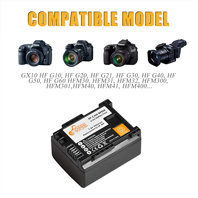 para Canon HG31 XA10 HF20 HF10 HF100 HF100E HG20 HG21
