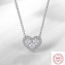 Silver 925 Jewelry Necklace VVS1 Diamond Pendant Fashion Pierscionki Bizuteria Wedding Gemstone Silver 925 Jewelry Pendnat Girl(China)