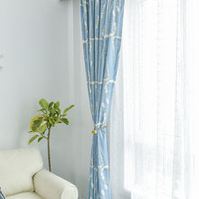 Горячая Распродажа современный свежий и простые шторы для гостиной