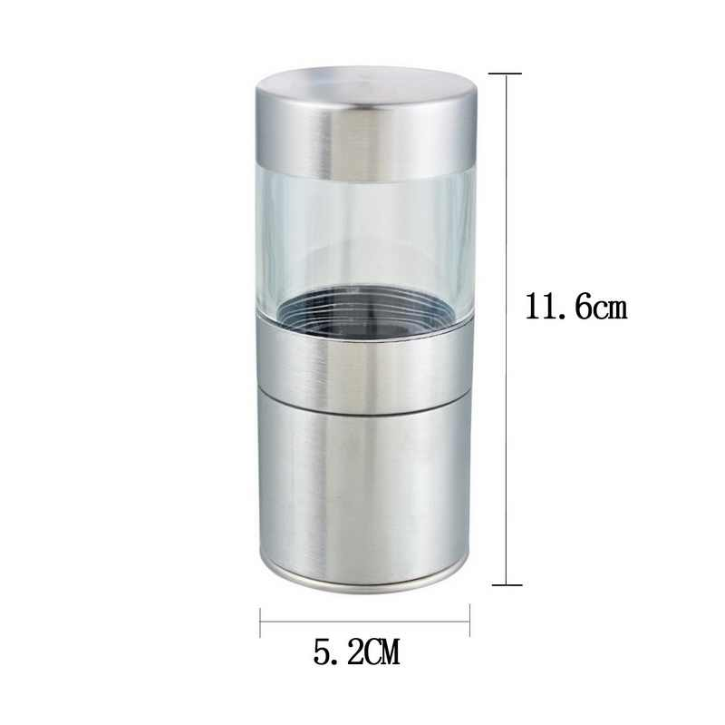 Manual de sal pimienta molinillo de acero inoxidable molinillo para condimento botella molienda molinillo de especias para salsa accesorios de herramientas de cocina