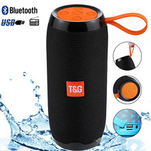 20W Portable Bluetooth Speaker with FM Radio Wireless TWS Stereo Outdoor Column Subwoofer Support TF card AUX USB Speakers(China)