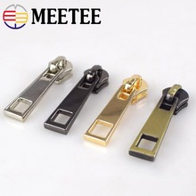 10/20pcs Fashion 5# Metal Zipper Sliders For Clothes Bag Sewing Head Pulls Zip Repair Kit DIY Accessories