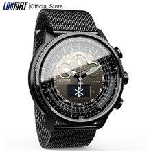 LOKMAT Bluetooth akıllı saat spor su geçirmez ölçer bilgi hatırlatma dijital erkekler saat ios için akıllı saat Android telefon