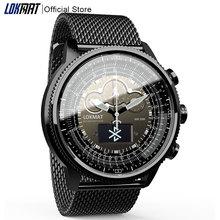 LOKMAT Bluetooth inteligentny zegarek Sport wodoodporne krokomierze przypomnienie informacji cyfrowy mężczyzna zegar smartwatch dla ios telefon z systemem Android