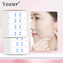 Yoxier-adhesivo Invisible antiarrugas para estiramiento de la piel, cinta adhesiva Estiramiento facial la barbilla, 40 Uds.
