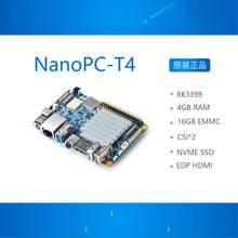NanoPC T4 Open Source RK3399 ARM Entwicklung Bord DDR3 RAM 4GB Gbps Ethernet Unterstützung Android 8,1 Ubuntu, AI und tiefe lernen