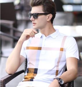 Image 3 - ZOGAA الصيف الرجال قمصان بولو قصيرة الأكمام القطن Polos الذكور منقوشة الأعمال بلايز عادية قميص camisa بولو الذكور أوم camisa