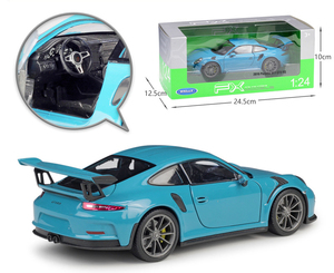 Image 4 - مقياس ويلي 1:24 محاكي سيارة بورش 911 GT3 RS نموذج سيارة رياضية سبيكة معدنية لعبة سباق السيارات لعبة للأطفال هدية