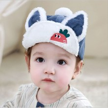 Autumn Winter Cute Baby Boy Girl Hats Cotton Warm Outdoor Kid Caps Lovely Cartoon Ear Soft Warm Comfortable Hat for Baby стоимость
