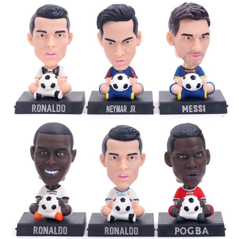 New Design!Resin Soccer Lionel Messi,Football Bobble Head Figure,Souvenir 13cm
