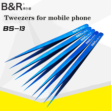 Sharp Tweezers Repair-Tools Stainless-Steel Electronics Ultra-Thin Blue Components Flying-Line
