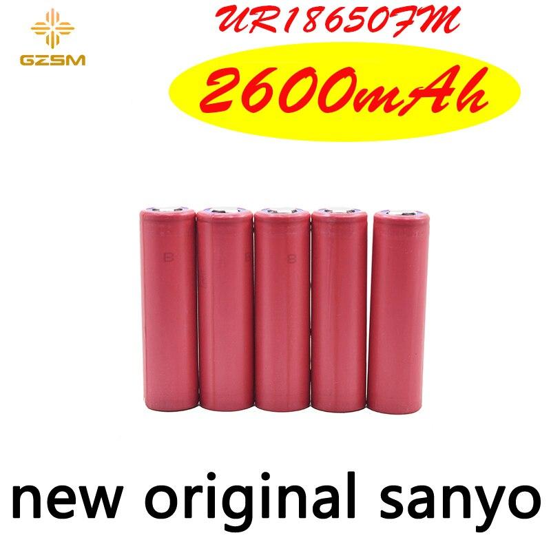 GZSM 18650 battery for Sanyo UR18650FM rechargeable 2600mAh 3.7V 6A For cigarette
