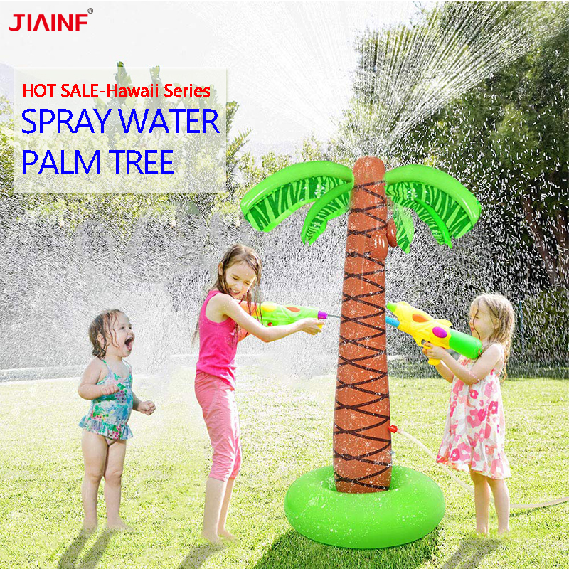 Inflatable Sprinkler Palm Tree Water Play Toys For Kids, Spray Water Tree Toy For Outdoor Summer Fun Backyard Party Decoration