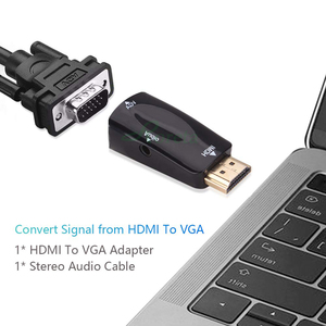 Image 3 - Roreta HDMI to VGA Adapter Audio Cable Converter Male to Female HD 1080P For PC Laptop TV Box Display Projector