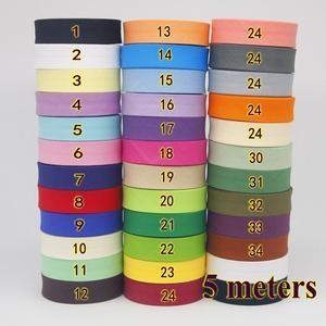 Лента хлопковая смещенная, лента смещенная обвязочная размер 20 мм, ширина 3/4 дюйма 5 м/лот, небольшая упаковка, материал для шитья ручной работы «сделай сам»