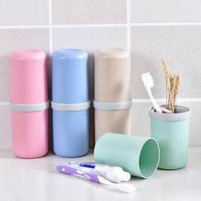 New Portable Travel Wheat Straw Toothbrush Toothpaste Holder Anti-dust Storage Cup(China)