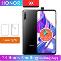 Honor-Teléfono Móvil Inteligente 9X, celular con Android 9,0, pantalla de 6,59 pulgadas, resolución 2340X1080, 4GB RAM, 64GB ROM, cámara elevada de 48.0MP