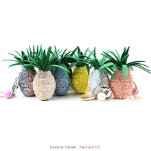 PU Pineapple Key Chain Stereo Bright Color Pineapple Keychain Direct Sale Bag Pendant Keyring Woman Cute Gift Fruit