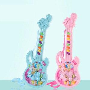 Image 2 - Elektro gitar oyuncak müzikal oyun çocuk Boy kız yürümeye başlayan öğrenme elektron oyuncak