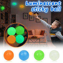 4.5cm Luminous Balls High Bounce świecące piłeczka antystresowa lepkie ściany strona główna dekoracja dzieci prezent lęk zabawki świecące w ciemności
