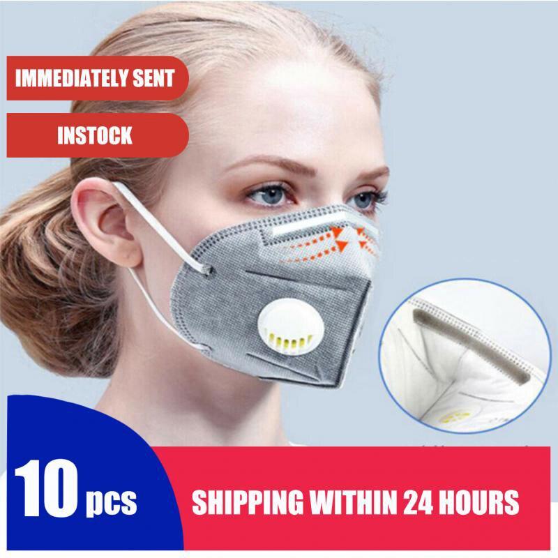 10 шт. N95 маска воздухопроницаемая FFP2 ffp3 противопылезащитная маска респиратор для лица многоразовый для использования с защитой-гигиеническ...