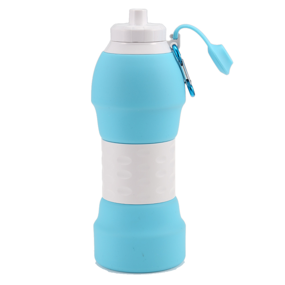 H7213363d501d4b799740c8051839bfc2d 500ML Portable Silicone Water Bottle Retractable Folding Coffee Bottle Outdoor Travel Drinking Collapsible Sport Drink Kettle