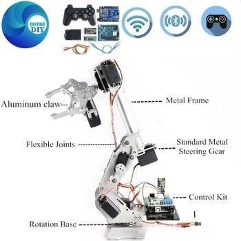 Sterowanie uchwytem 7DoF aluminium Robot ze stopów Arm Wifi wersja metalowy Manipulator Robotic ABB zestaw modeli ramion Meta Claw dla Arduino DIY tanie i dobre opinie Doit am CN (pochodzenie) 12 + y Do cięcia FRAME Złącza Okablowanie none Pojazdów i zabawki zdalnie sterowane Wartość 2