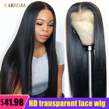 13X4 Straight Lace Front Wig Transparent Lace Frontal Wigs Brazilian Lace Front Human Hair Wig Pre-Plucked Remy Human Hair Wigs