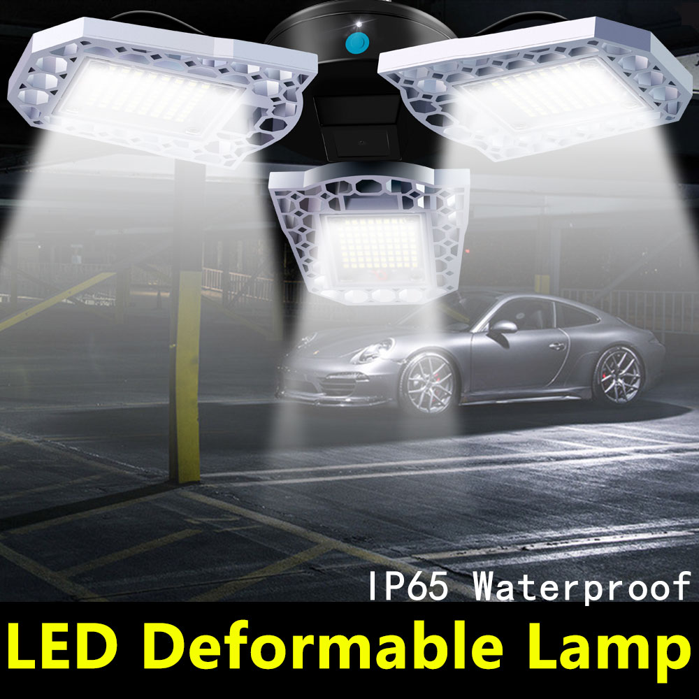 Deformable Garage Light LED E27 60W 80W 100W LED Bulb E26 Lampada LED Lamp 220V Light Bulb 110V High Power Gym Basement Lighting
