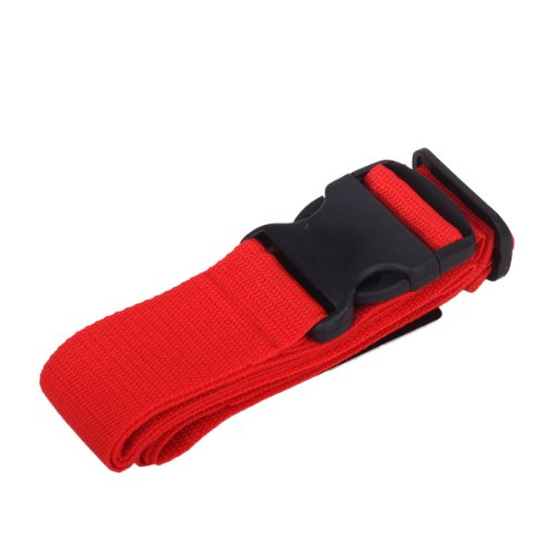 Long Luggage Stuffed Seat Belt Luggage Belt Red
