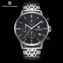 PAGANI DESIGN zegarek męski zegarek luksusowy zegarek ze stali nierdzewnej biznes człowiek zegar kwarcowy analogowy zegarki sportowe mężczyźni reloj hombre tanie tanio SYNOKE 22 45cm Moda casual QUARTZ NONE 3Bar Sprzączka CN (pochodzenie) STAINLESS STEEL 14mm Hardlex Metal 43mm Top Quartz Watch GOOD