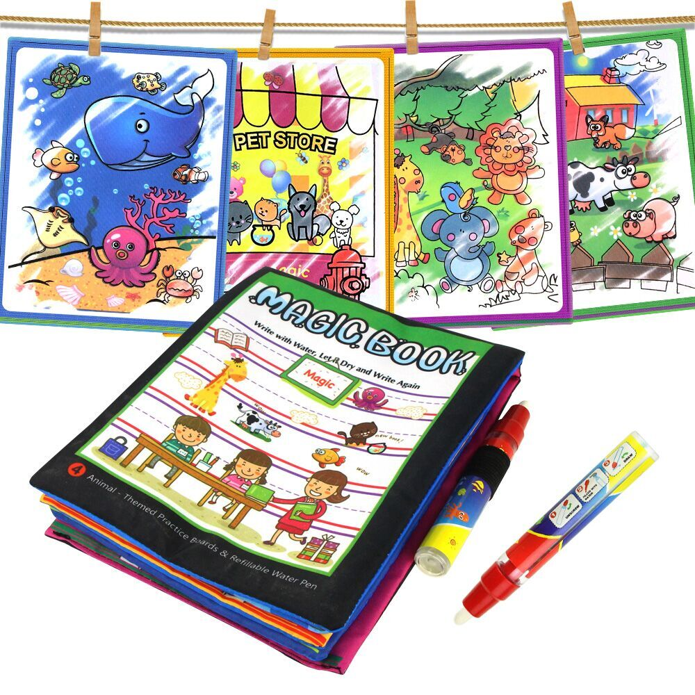 12 Types Water Drawing Books Magic Pen Magic Pad Coloring Book In Drawing Toys Reusable Books Early Learning Toys