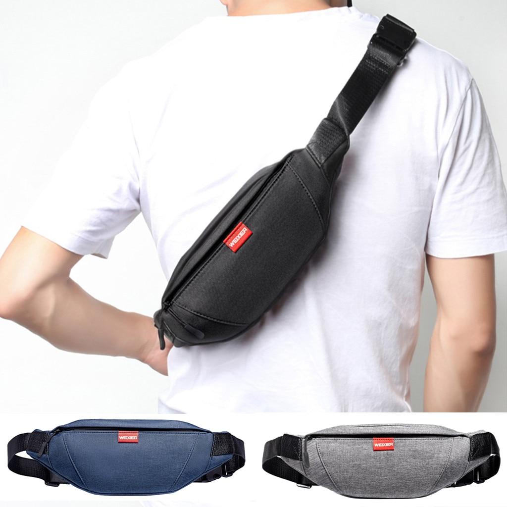 2019 New Men Mini Shoulder Multi-Function Mobile Phone Bag Outdoor Sports Shoulder Bag Chest Slung Fanny Bag