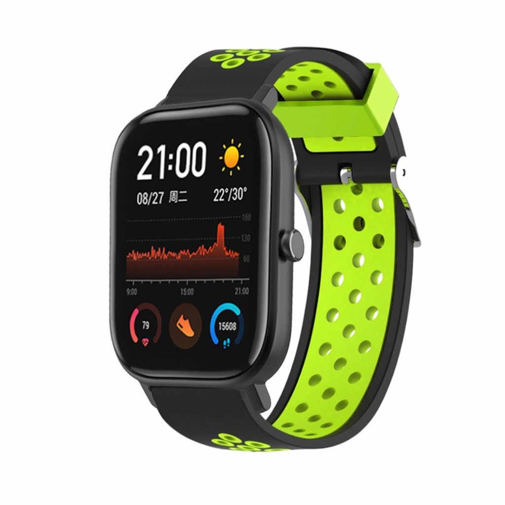Ventilar esporte macio pulseiras de relógio para xiaomi huami amazfit gts xiomi xaomi correas pulseiras pulseira de montre