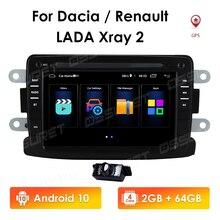 AudioFor Renault Lau Bụi Dacia Sandero Lodgy Dokker Radio Đa Phương Tiện Video Dẫn Đường GPS Android 10 2din 2 Din dvd