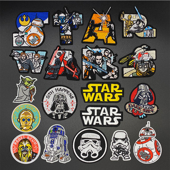 DIY Star Wars Patch Hook Loop Embroidered Patches For Clothing Iron on On Clothes Tactical Military Badges Stripes