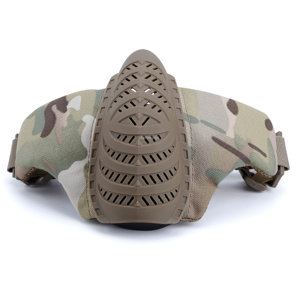 Half Face Mesh Mask Military Style Comfortable Mask Adjustable Tactical Lower Face Protective Masks