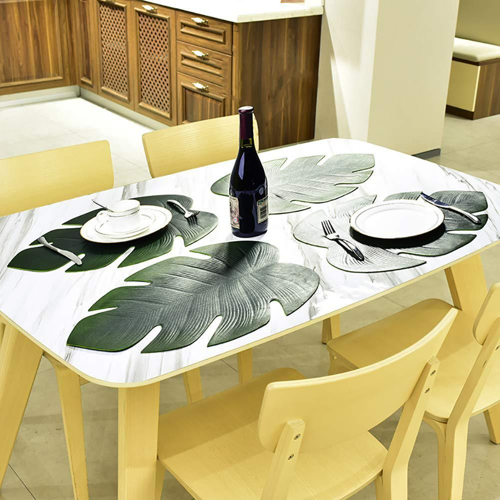 Artificial Fake Tropical Monstera Leaf Kitchen Placemat Mat Bowl Anti Slip Pad Table Decor Plate Pad Placemat For Dining Table