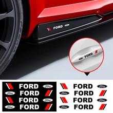 4 Stuks Auto Deurklink Sticker View Spiegel Lichaam Decoratie Vinyls Decals Voor Ford Fiesta Ecosport MK2 MK3 MK1 Mustang focus 2 3 4