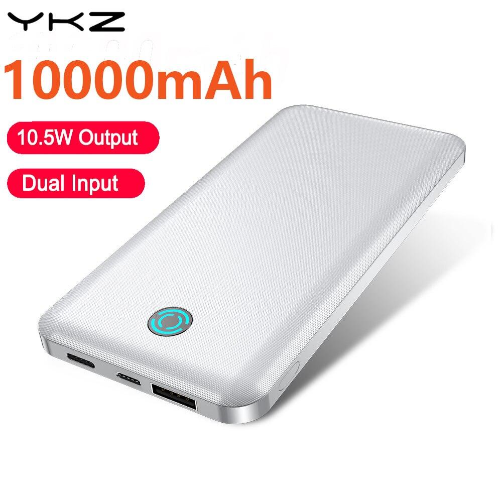 YKZ Power Bank 10000 мАч светодиодный дисплей кабель с разъемом типа C USB портативный быстрая зарядка 3,0 4,0 Powerbank для iPhone Xiaomi Huawei Samsung телефона