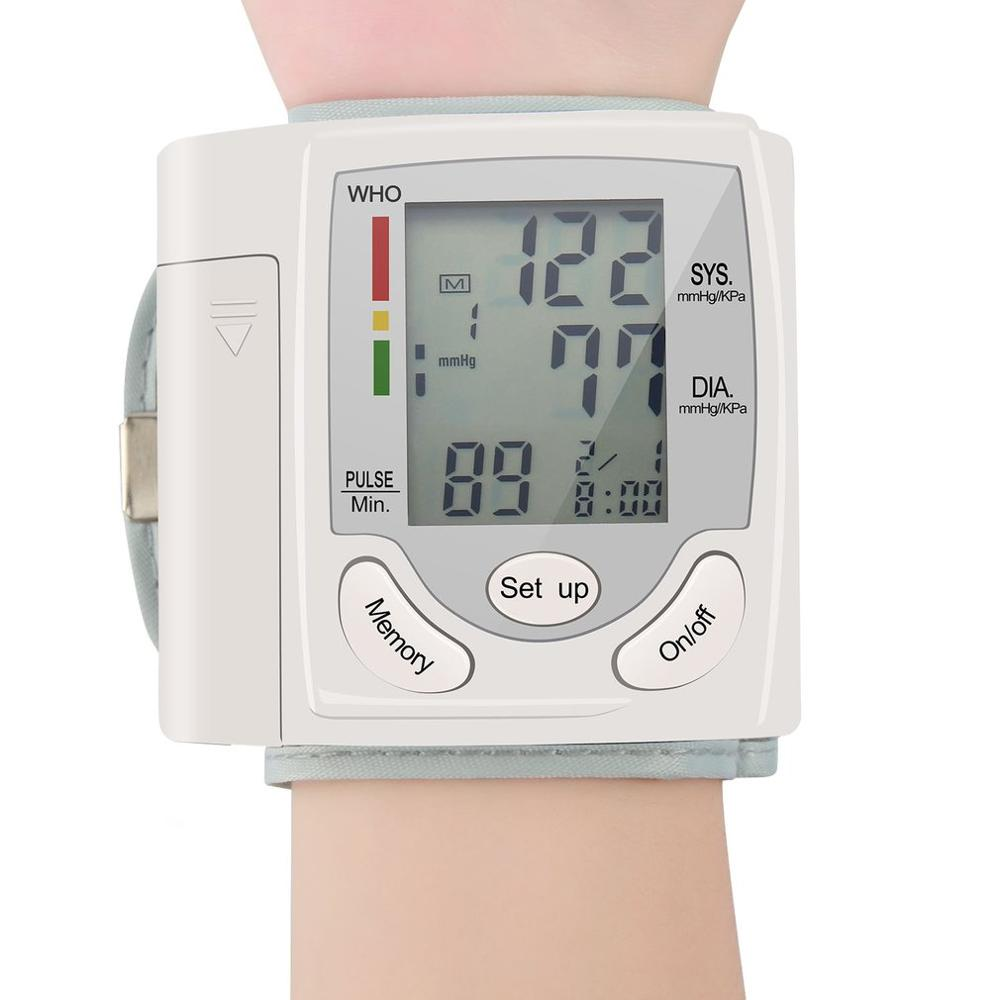 LCD Blood Pressure Digital Measuring Instrument Tool Auto LCD Digital Upper Arm Meter Wrist BP Home Heart Beat Pulse Monitor