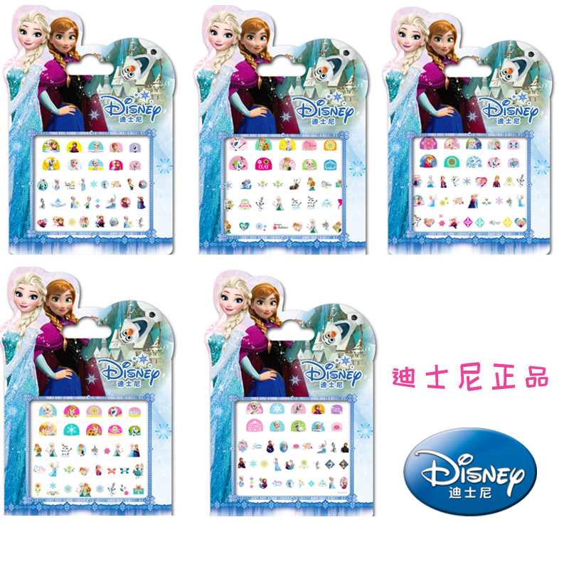 Genuine 5 Pcs Disney Frozen Elsa And Anna Princess Makeup Toy Nail Stickers Toy Disney Princess Girl Sticker Toys For Girls Gift