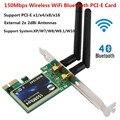 Сетевая карта PCI-E  Bluetooth  Wi-Fi  2 4G  беспроводная  150 Мбит/с  PCI-E  PCI Express  сетевой адаптер