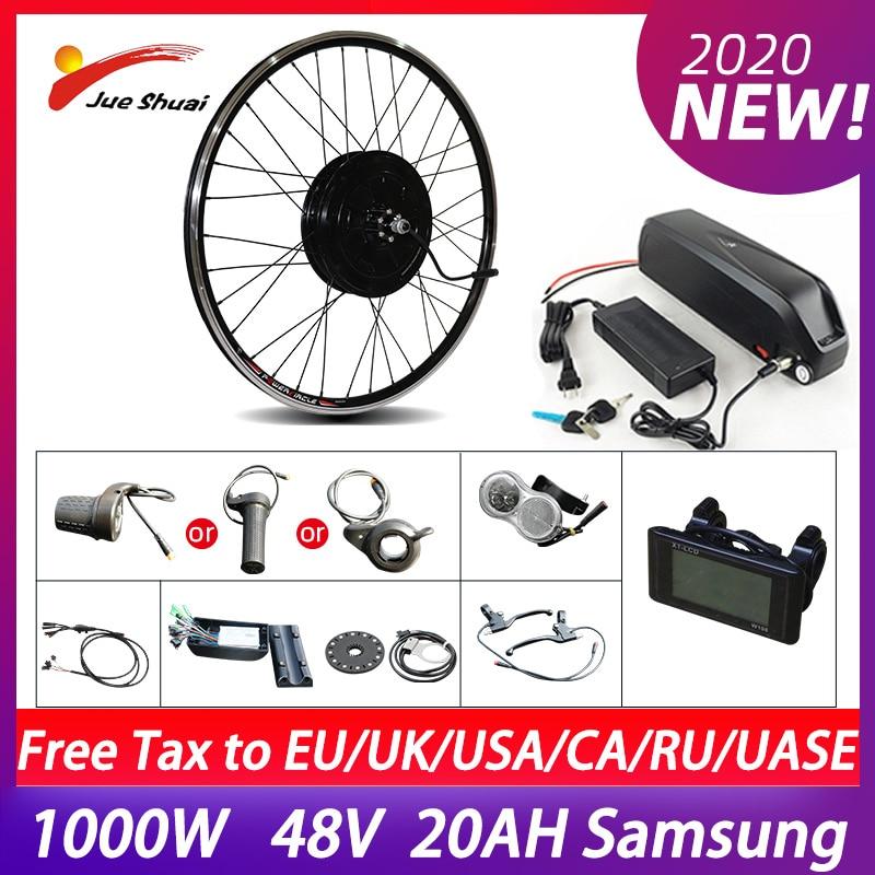 1000W Rear Hub Motor Electric Bike Conversion Kit Brushless Motor Kit 26'' 700C Wheel Ebike kit With Battery 50KM/H bicicletas