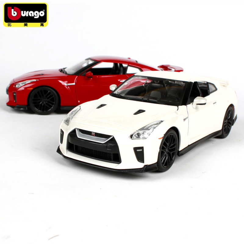 Bburago 1:24 2017 Nissan GTR Simulation Alloy Car Model Crafts Decoration Collection Toy Tools Gift