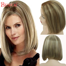 Ombre Bob Wig 13x4 Lace Front Human Hair Highlight 150% Density Short T Lace Part Bob Wigs Pre Plucked Bleached Knots For Women
